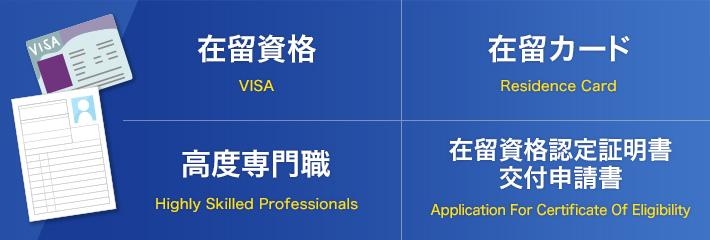 在留資格/在留カード/高度専門職/在留資格認定証明書交付申請書